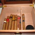 Humidor full of fresh cigars